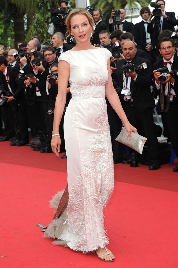 <p> Uma Thurman at Cannes, May 2011.