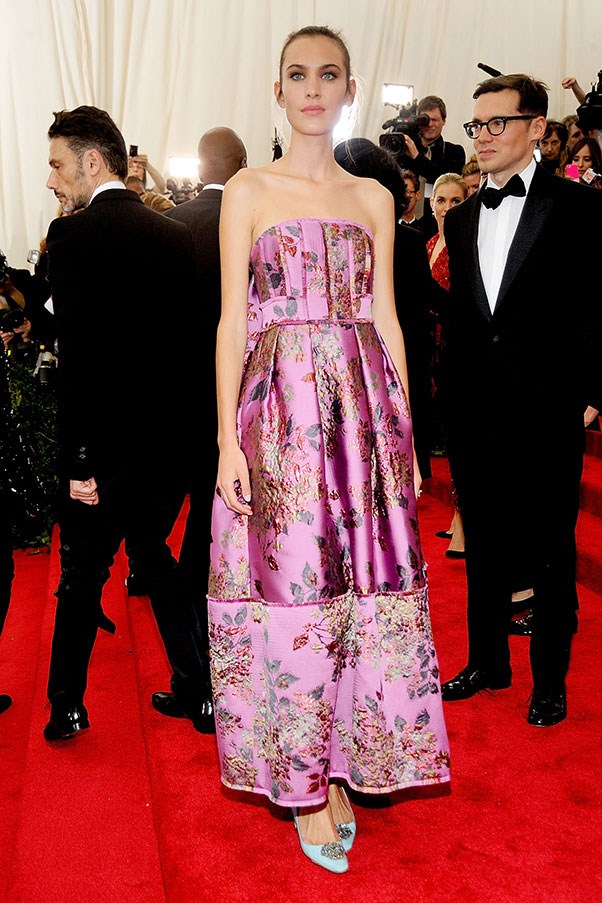 <p>Alexa Chung in Erdem at the Met Gala, May 2015.
