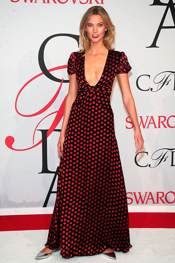 <p>Karlie Kloss at the CFDA fashion awards, June 2015.