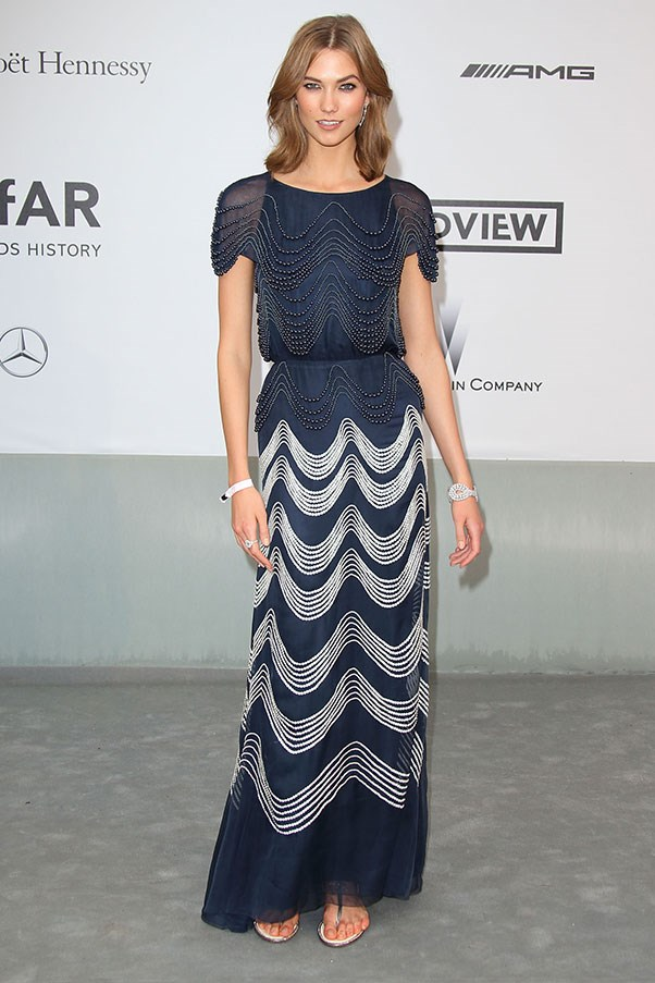 <p>Karlie Kloss at the amfAR Cinema Against AIDS gala, May 2014.