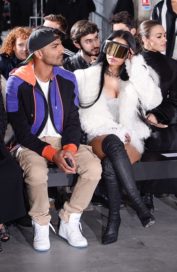 Nicki Minaj at Rick Owens.