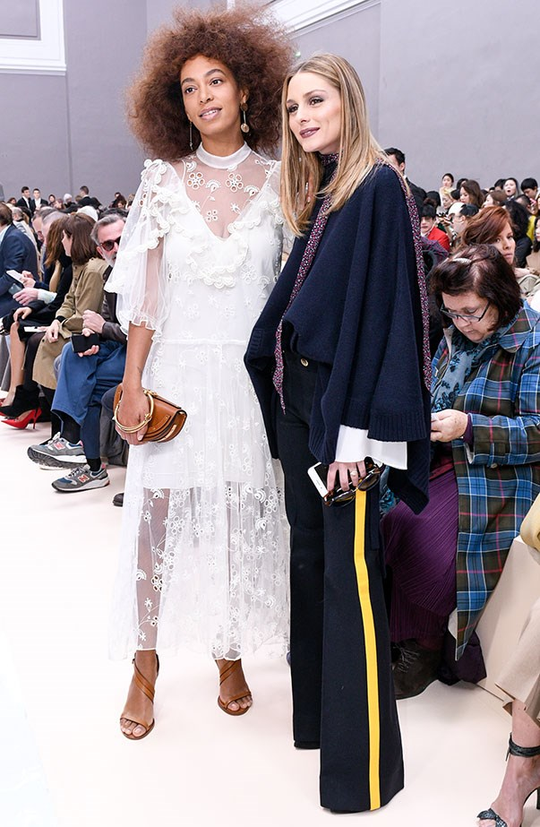 Solange Knowles and Olivia Palermo at Chloé.