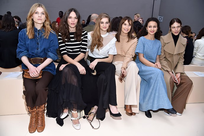The front row at Chloé.