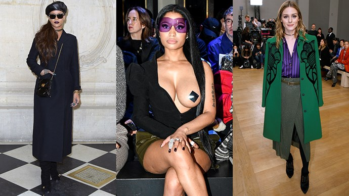 See all of the best celebrity appearances from Paris fashion week autumn/winter 2017, as they happen.