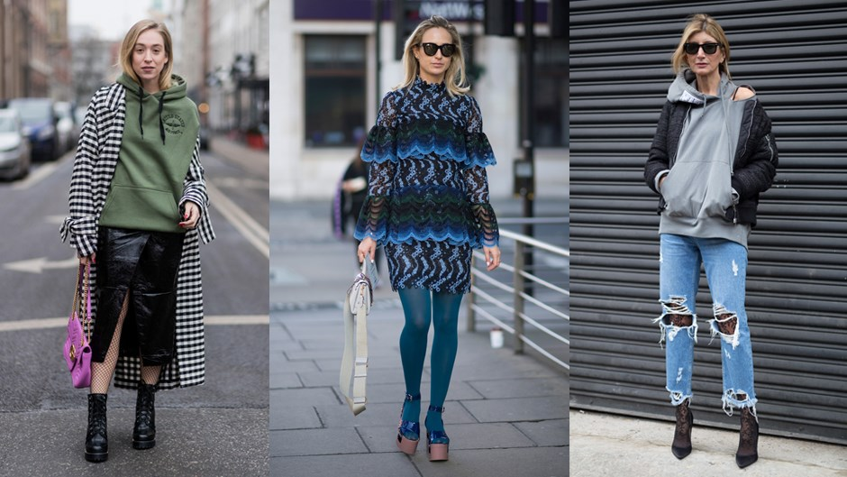 From opaque coloured tights to printed stockings and fishnets, fanciful tights might be the easiest (and cheapest) outfit-addition going around.