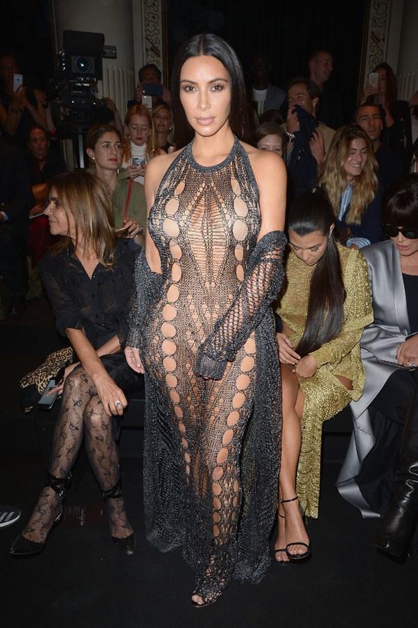 <p>Kim Kardashian at Balmain spring/summer 2017