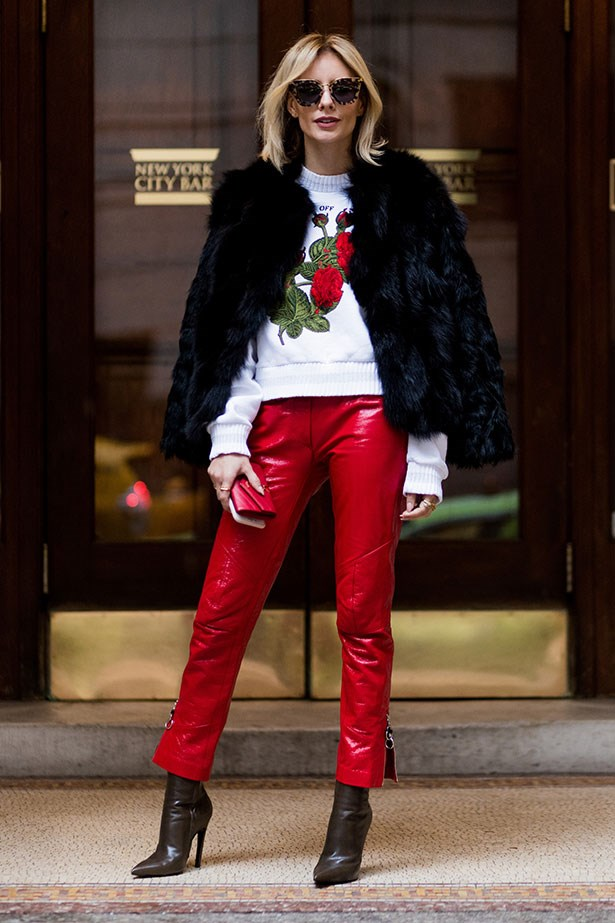 Street style at New York fashion week A/W '17.