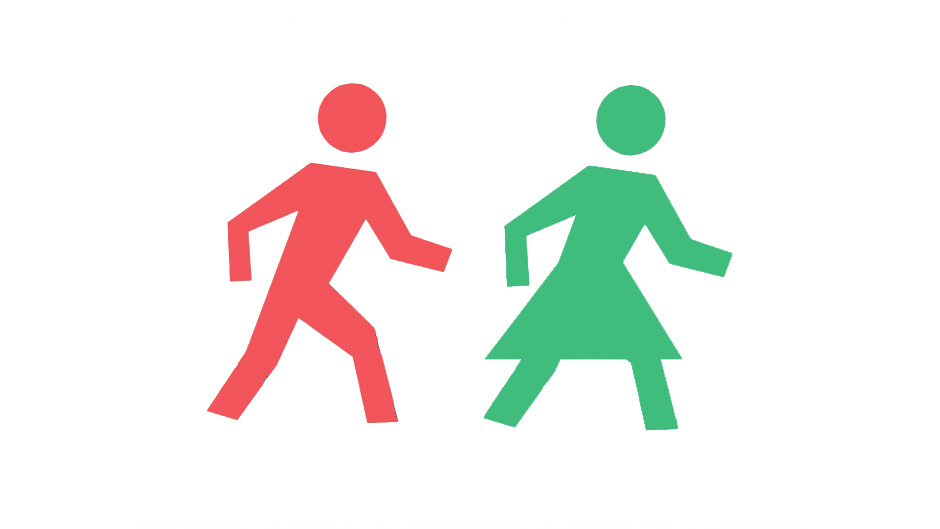 Female figures put on pedestrian crossing signs to fight 'unconscious gender bias'