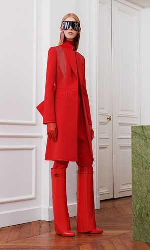 red givenchy coat
