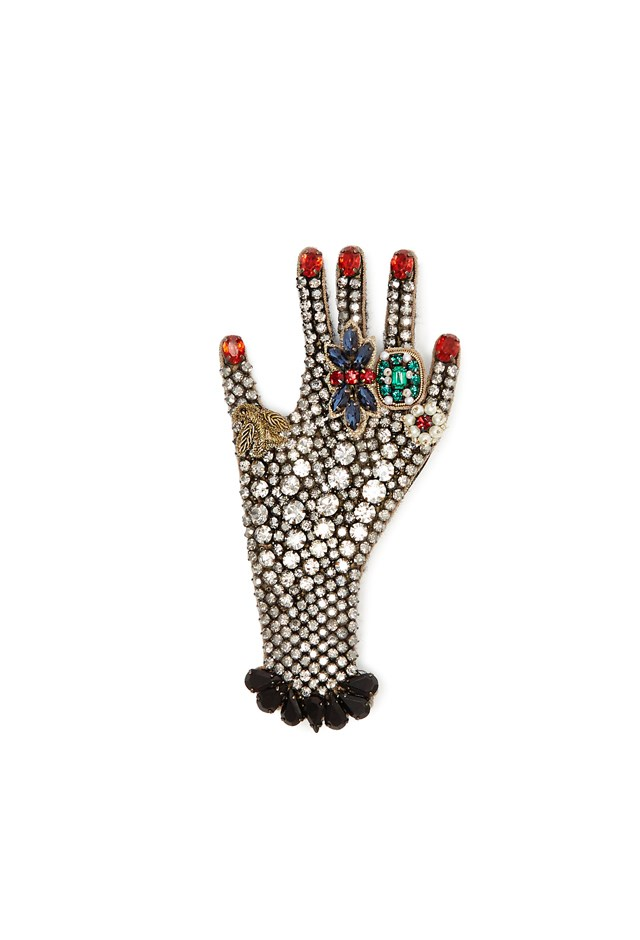 "<p> <strong>This crystal-embellished brooch, $1,015.</strong> <p> For jazzing up her school uniform. <p> Brooch, $1,015, <a href=""http://www.matchesfashion.com/au/products/Gucci-Hand-crystal-embellished-brooch-1074257"">Gucci at matchesfashion.com</a>"