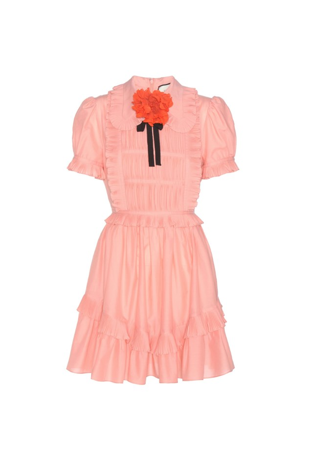 "<p> <strong>This cotton dress, $2,345.</strong> <p> For going to the hospital in to meet her new siblings. <p> Dress, $2,345 <a href=""http://www.mytheresa.com/en-au/ruffled-cotton-dress-626006.html?catref=category"">Gucci at mytheresa.com</a>"