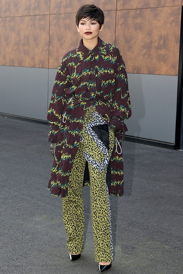 In Kenzo at Kenzo's spring summer '16 show, October 2015.