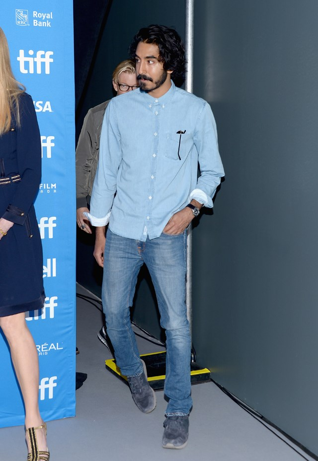Double denim at the Toronto Film Festival.