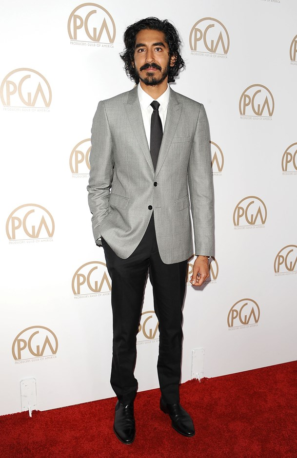 Monochrome tones at the Producers Guild Awards.