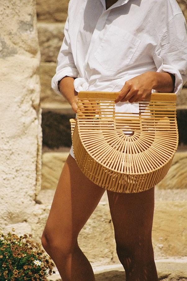 """Bag by Cult Gaia, approx. $170 at <a href=""""https://cultgaia.com/collections/handbags"""">Cult Gaia</a>"""