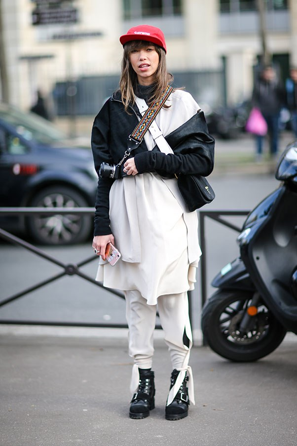 Street style at Paris fashion week.