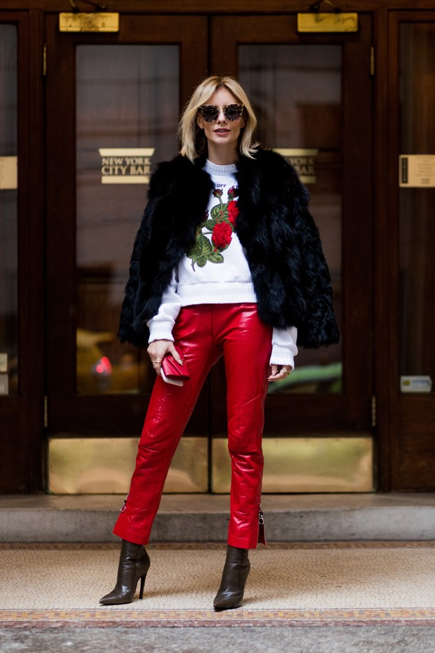 <p><em>Patent leather</em><p> Whether in pants, jackets, boots or bags, high-shine patent leather is definitely having a moment.