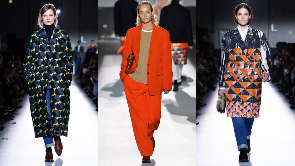 <p><em>Dries Van Noten</em><p> For fans of Dries Van Noten it was the ultimate milestone show—his 100th. Inviting some of modelling's most enduring names, including Nadja Auermann, Kirsten Owen and Australia's own Emma Balfour, the designer drew on some of his greatest hits, reviving archival prints and mixing in white denim and oversized tailoring in a collection designed to woo women of all ages, everywhere.