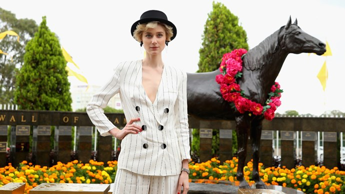 A host of celebrities including Elizabeth Debicki, Tegan Martin and Nikki Phillips donned their finest to attend Longines Golden Slipper Day, held at Rosehill Gardens Racecourse.