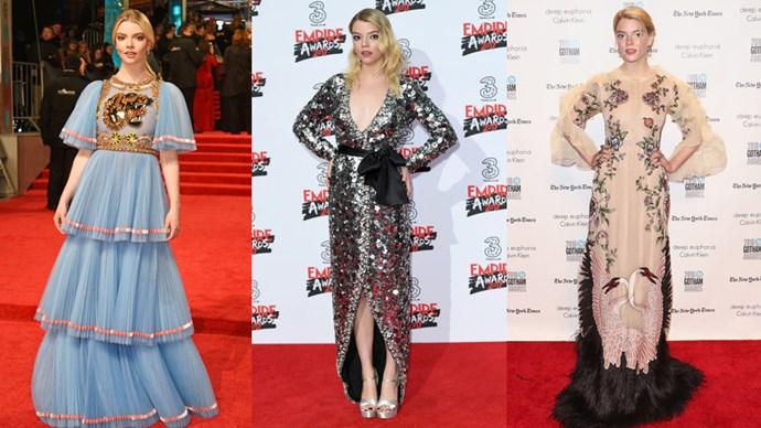 We're taking a look at actress Anya Taylor-Joy's excellent red carpet style.