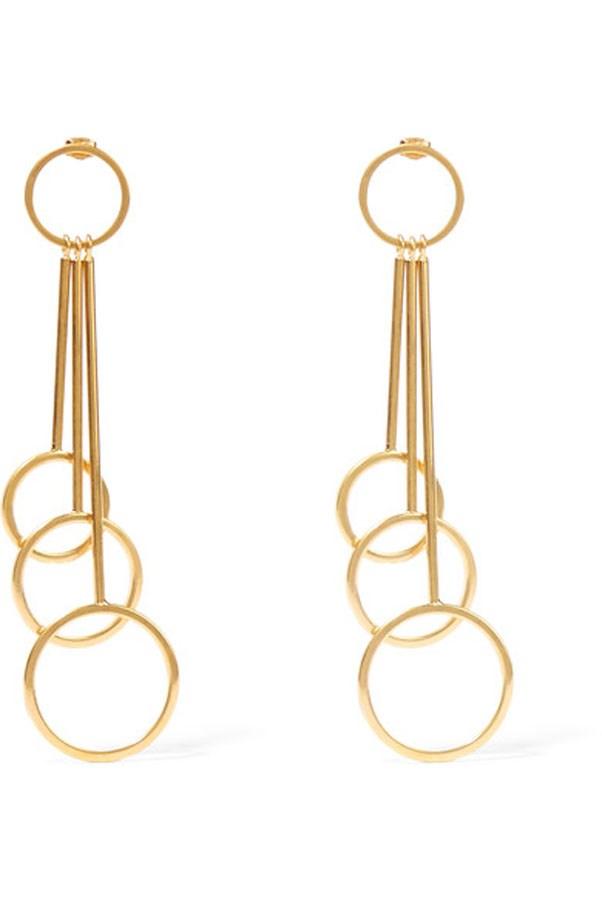 """<p>Marni earrings, $601 at <a href=""""https://www.net-a-porter.com/au/en/product/727406/marni/gold-tone-earrings"""">Net-a-Porter</a>"""