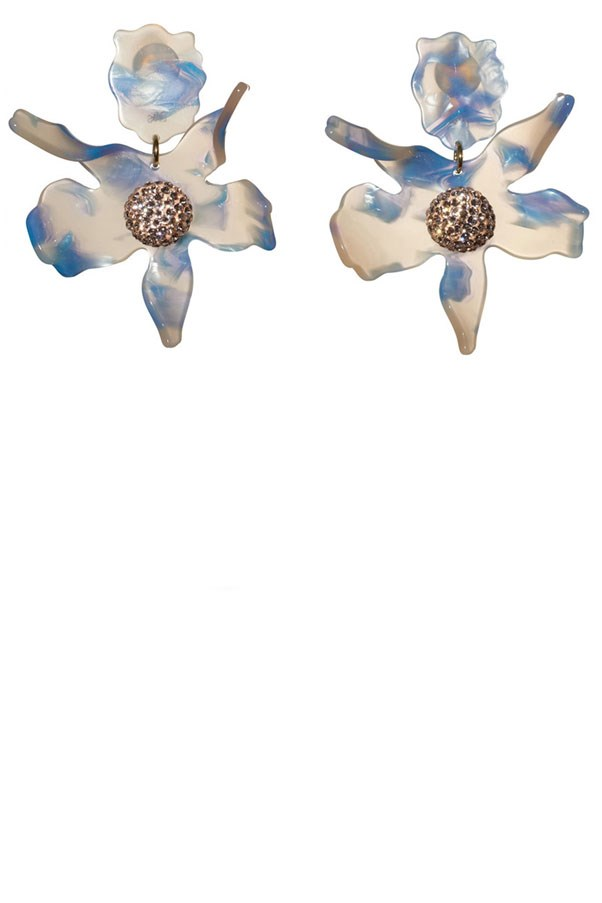 "<p>Lele Sadoughi earrings, approx. $259 at <a href=""https://www.lelesadoughi.com/collections/earrings/products/crystal-lily-earrings-1"">Lele Sadoughi</a>"