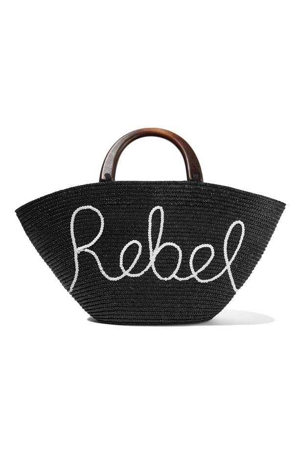 "Bag, $532, Eugenia Kim at <a href=""https://www.net-a-porter.com/au/en/product/847825/eugenia_kim/carlotta-sequin-embellished-woven-straw-tote"">Net-A-Porter</a>"