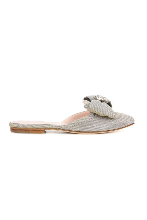 "Flats, $1,065, Oscar De La Renta at <a href=""http://www.mytheresa.com/en-au/oscar-de-la-renta-embellished-slip-on-sandals-758846.html?catref=category"">MyTheresa</a>"