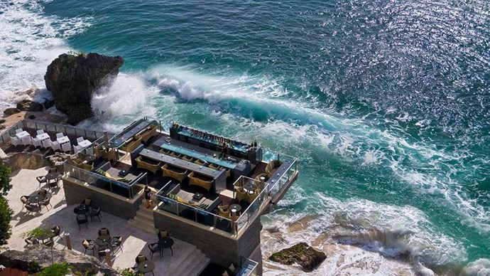 """<strong>BALI:</strong> <a href=""""http://www.booking.com/hotel/id/the-villas-at-ayana-resort-and-spa-bali.en-gb.html""""><strong>AYANA Resort Bali</strong></a> This hotel does well to exhibit to its guests all the breathtaking views the Indian Ocean has to offer, whether it is by enjoying a meal at the Rock Bar, or booking yourself in for a hot shell massage at the Spa on the Rocks. Its traditional Balinese aesthetics and flowering gardens only make this stay all the more appealing."""
