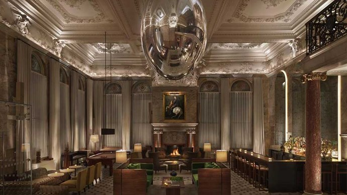 """<strong>U.K.:</strong> <a href=""""http://www.booking.com/hotel/gb/the-london-edition.en-gb.html""""><strong>The London EDITION</strong></a> You can't get more London than converted Georgian townhouses, opulent furnishings and a SoHo location. This hip hotel is a favourite hide away for the rich and famous, so spend as much time lounging in the lobby as humanly possible."""