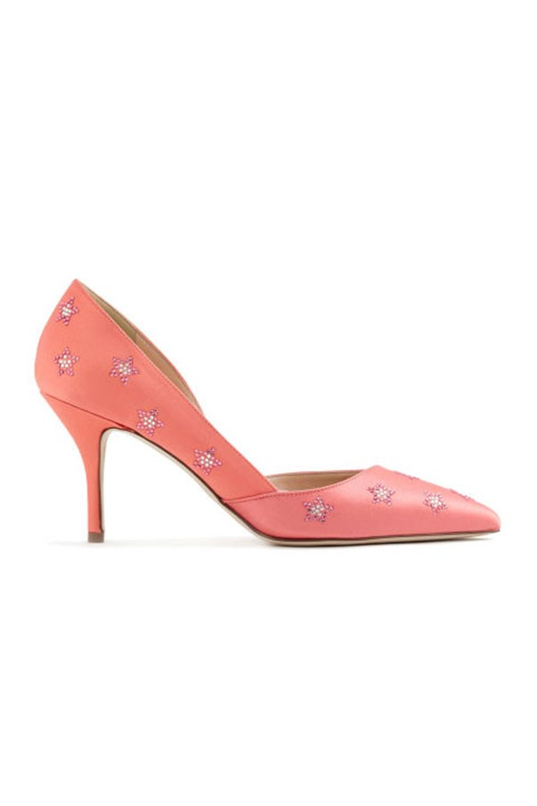 """<strong>7. Embellished Everything</strong> <p><p> J.Crew excelled at making the most basic of basics suddenly interesting. From button downs to footwear to tweed skirts, everything at J. Crew got the hyper-embellished treatment. <p><p> Colette d'Orsay Pumps, $296 AUD; <a href=""""https://www.jcrew.com/au/p/womens_category/shoes/pumpsandheels/colette-dorsay-pumps-in-embellished-satin/f5560?sale=true&isFromSearch=true&color_name=sweetheart-pink&N=17&Nloc=en&Ntrm=embellished&Npge=1&Nrpp=102&Nsrt=0&hasSplitResults=false&srcCode=AFFI00005&siteId=TnL5HPStwNw-5EPNwXzM2gHA18FK_MmXXw"""">jcrew.com</a>"""