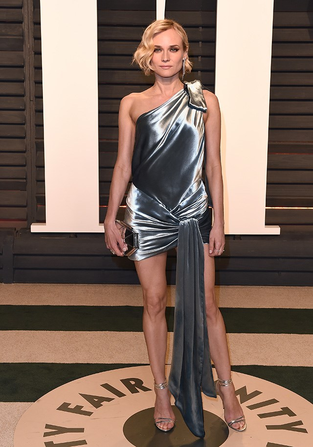 In Alexandre Vauthier at the Vanity Fair Oscar Party.