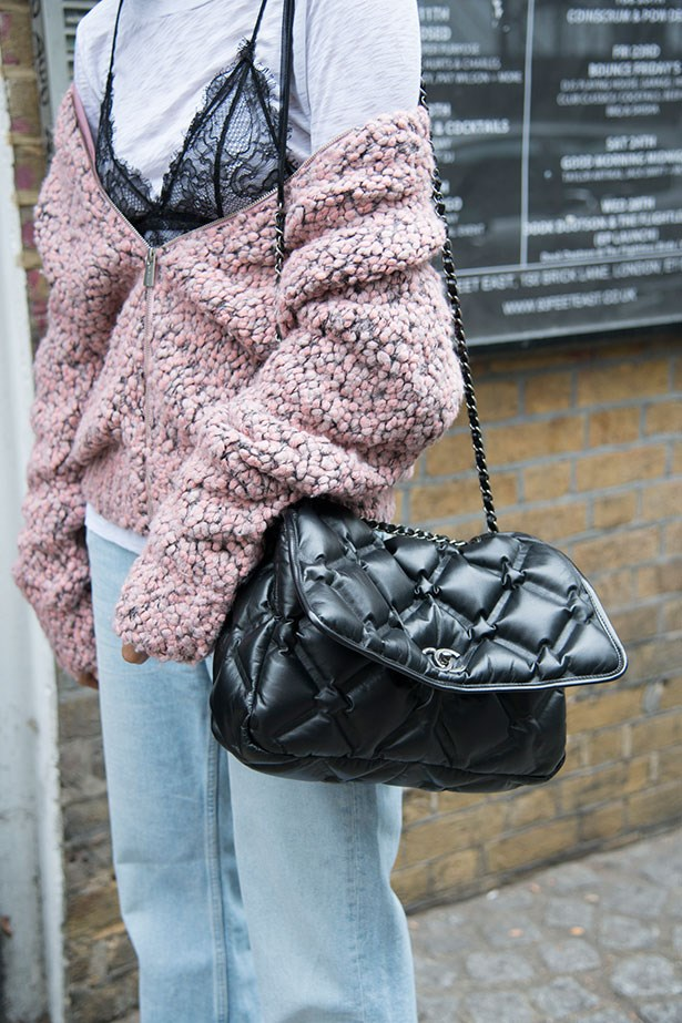 5. Wear A Lacey Bralette Over A Contrasting Tee