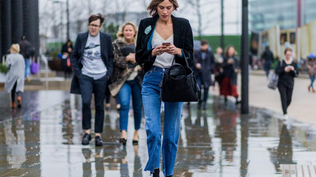 Alexa Chung Vetements jeans