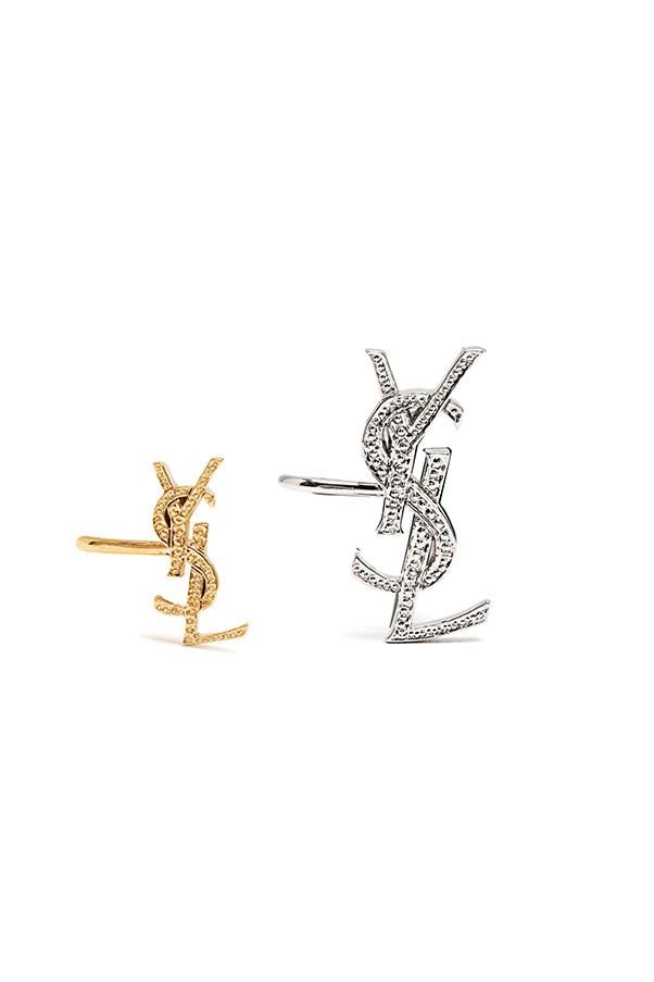 """Ear cuffs by Saint Laurent, $361 at <a href=""""http://www.matchesfashion.com/au/products/Saint-Laurent-Set-of-two-Monogram-ear-cuffs-1094762"""">Matchesfashion.com</a>"""