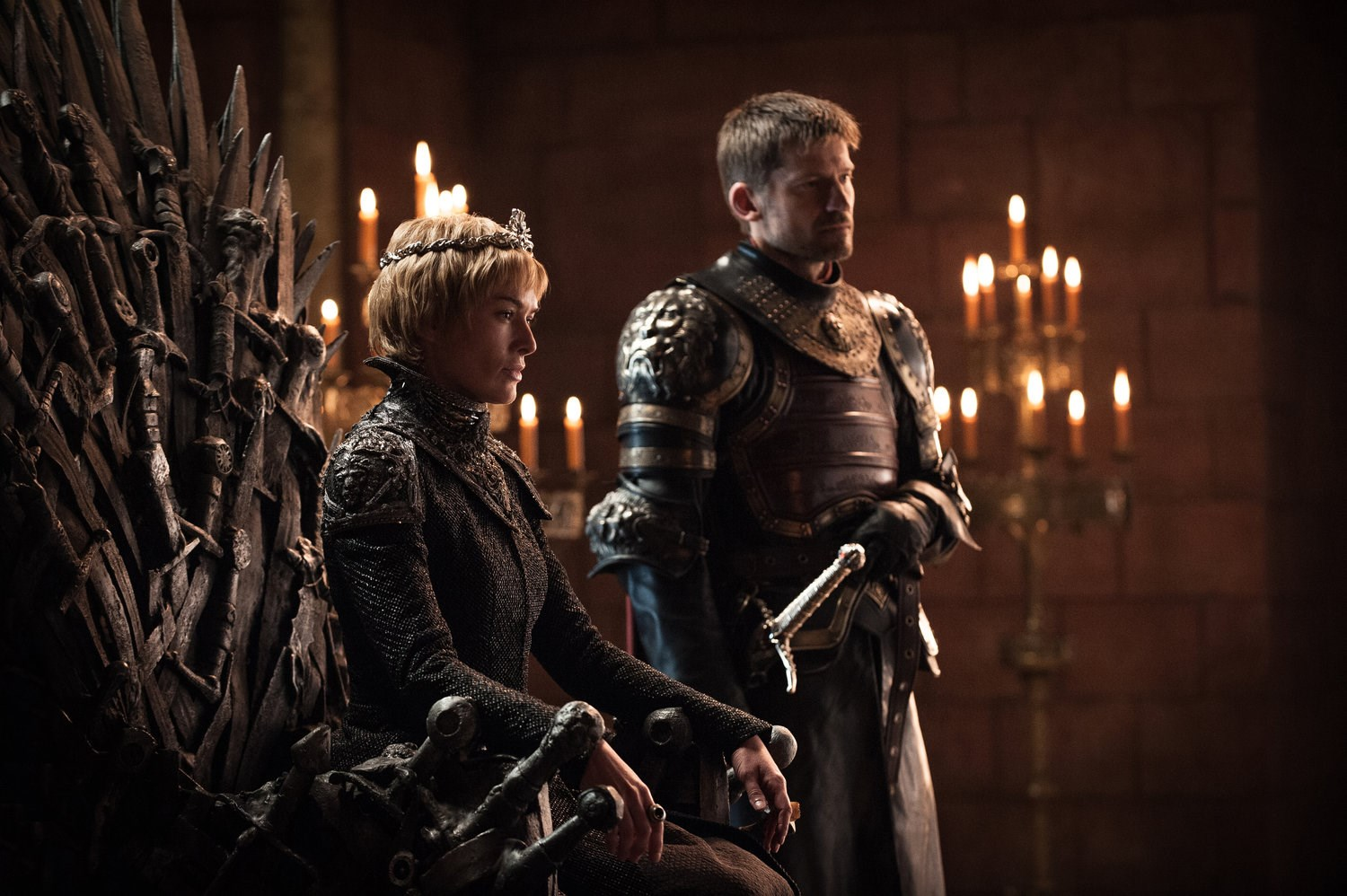 """<p>Queen Cersei Lannister and Jaime Lannister.<p> <em>Image via <a href=""""http://www.makinggameofthrones.com/production-diary/get-look-exclusive-photos-game-of-thrones-season-7"""">HBO</a></em>."""
