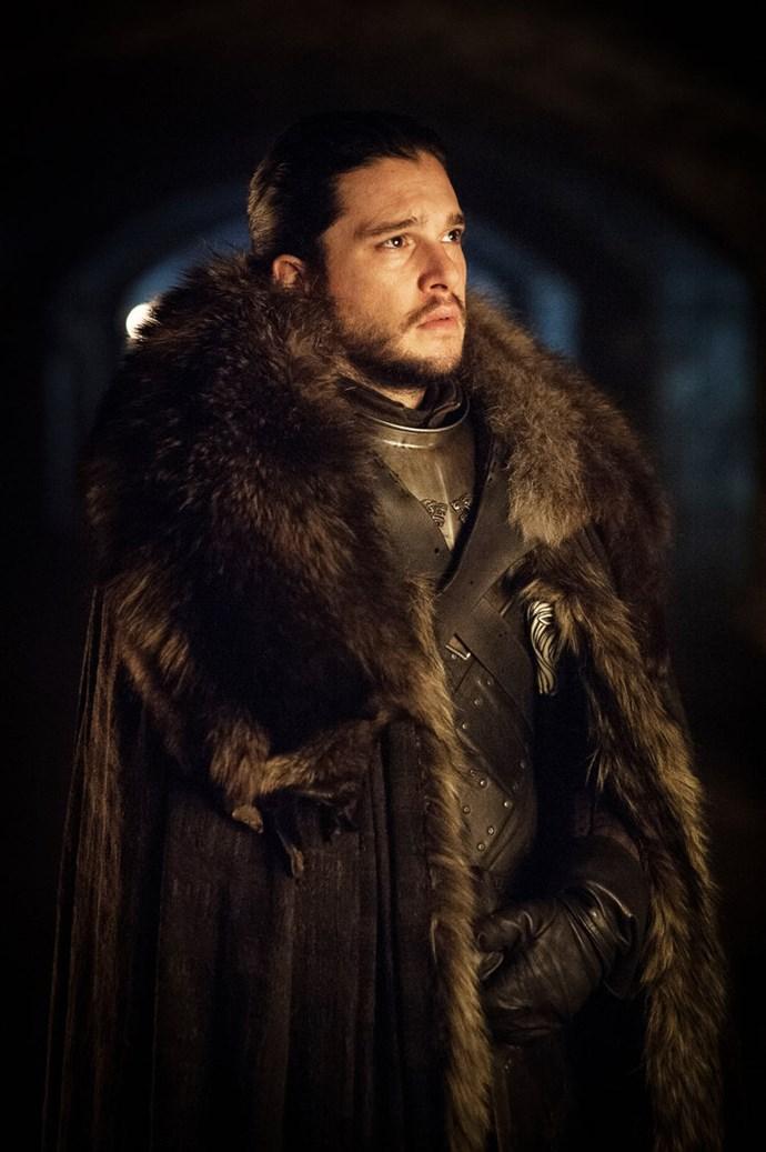 "<p>Jon Snow.<p> <em>Image via <a href=""http://www.makinggameofthrones.com/production-diary/get-look-exclusive-photos-game-of-thrones-season-7"">HBO</a></em>."