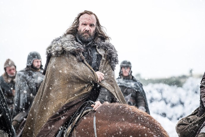 "<p>Sandor Clegane.<p> <em>Image via <a href=""http://www.makinggameofthrones.com/production-diary/get-look-exclusive-photos-game-of-thrones-season-7"">HBO</a></em>."