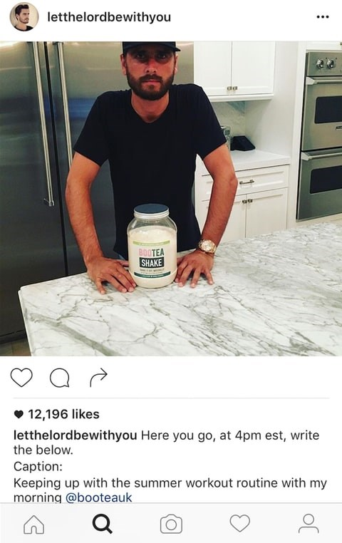 <p>Scott Disick did something similar last year when he also forgot to edit down his caption.