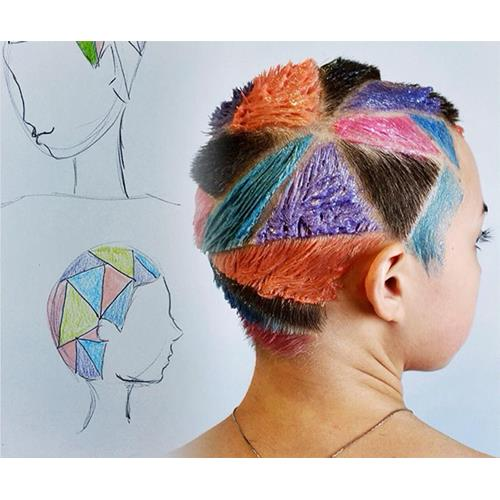 Why rainbow hair carving is the awesome shaved head