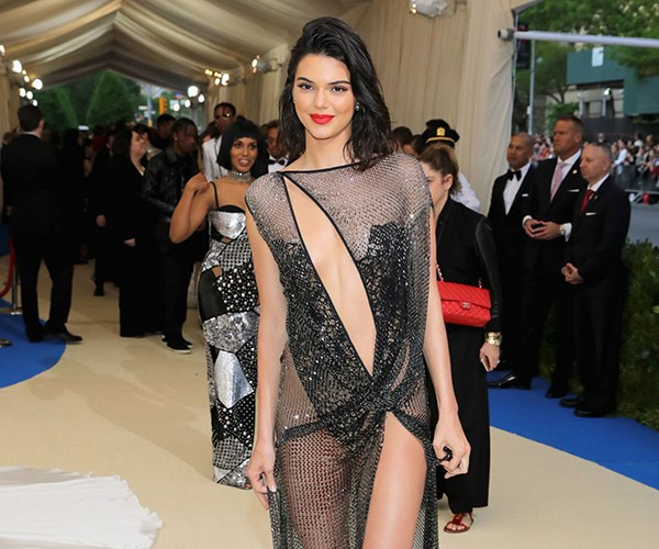 Kendall Jenner Naked Dress Met Gala