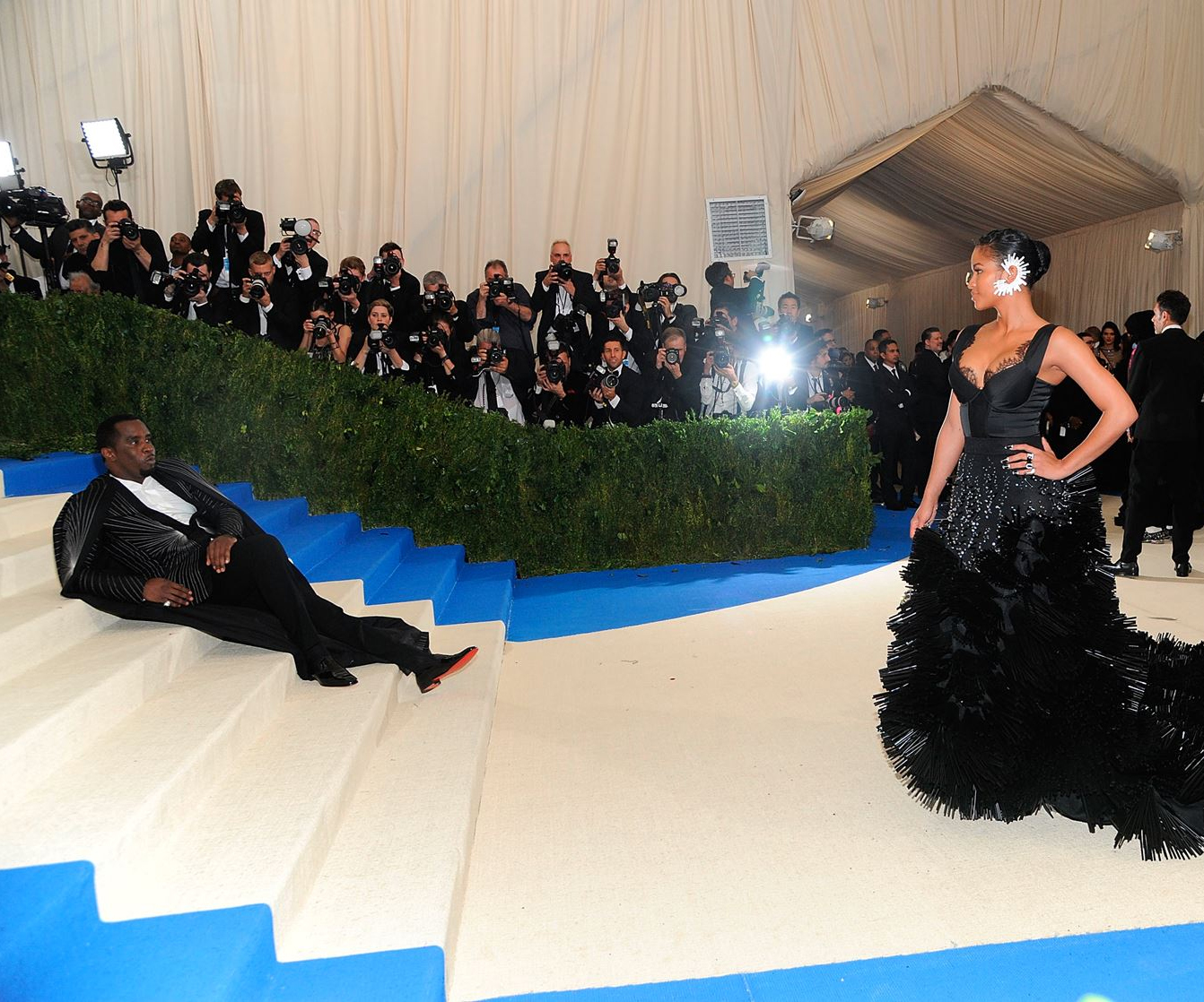 Diddy Crops Kylie and Kendall Jenner Out of Met Gala Instagram Photo