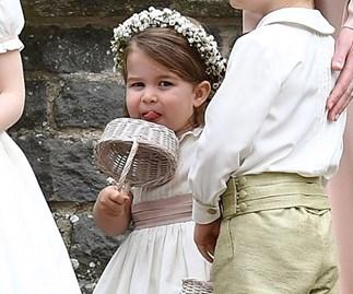 Princess Charlotte at Pippa Middleton's wedding