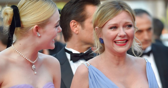 Kirsten Dunst crying Cannes
