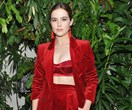 Zoey Deutch Faces The Future In Head-To-Toe Ruby Red Max Mara
