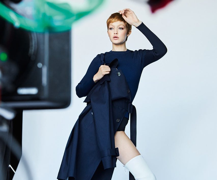 Gigi Hadid Returns With A Pixie Cut For Stuart Weitzman!