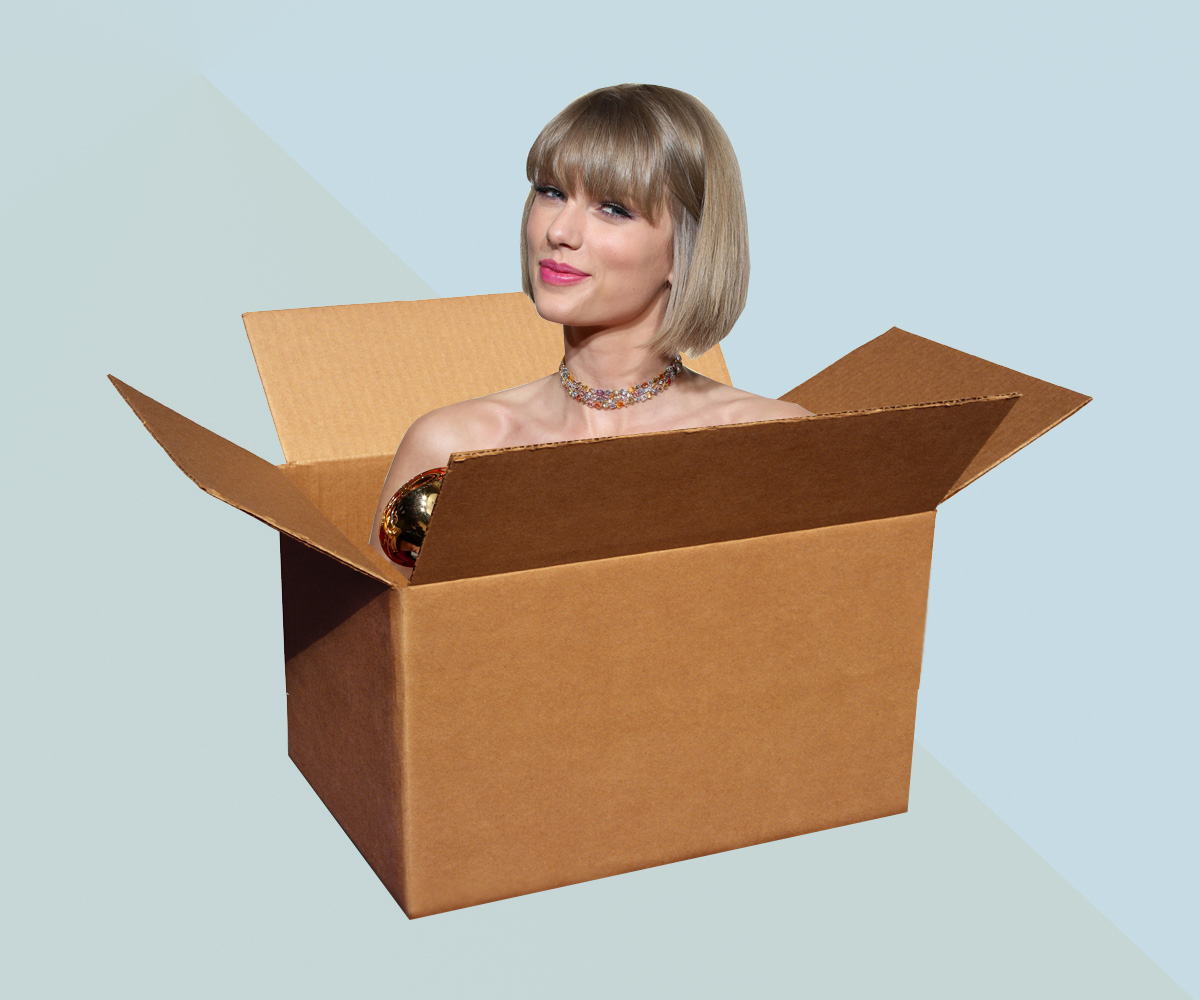 Sorry internet, Taylor Swift doesn't ride around in a suitcase