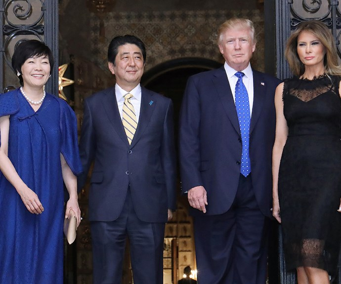 Japan Prime Minister with Donald Trump