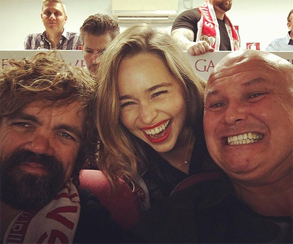 Peter Dinklage, Emilia Clarke and Conleth Hill
