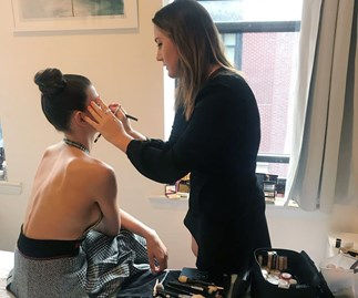 How To Get Georgia Fowler's Bronzed Goddess Look From NYFW